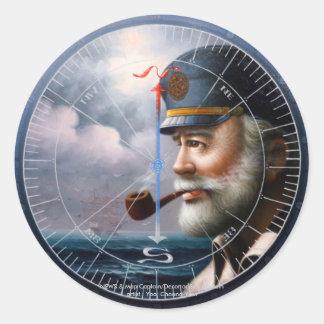 NOTICIAS y capitán del mapa/decoración o capitán Pegatina Redonda