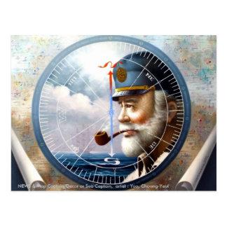 NOTICIAS y capitán del mapa/decoración o capitán Postales