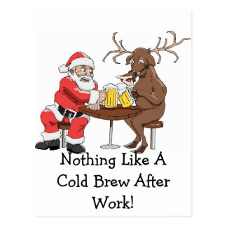 Noting Like A Cold Brew After Work!-Postcard Postcard