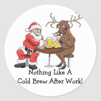 Noting Like A Cold Brew After Work!-Sticker Classic Round Sticker