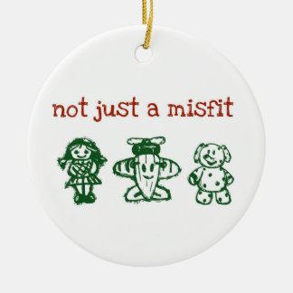 notjustxmas adorno navideño redondo de cerámica