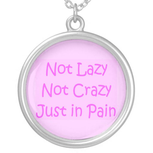 notlazynotcrazy2 round pendant necklace
