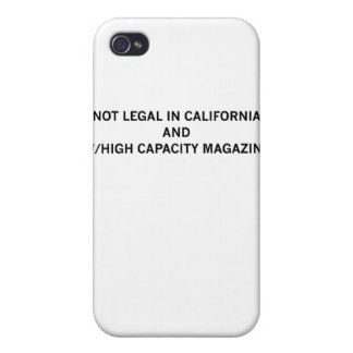 NotLegalInCali iPhone 4 Cover