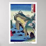 Noto, taki ningún ura por Ando, Hiroshige Ukiyoe Poster