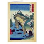 Noto, taki ningún ura por Ando, Hiroshige Ukiyoe Tarjeta