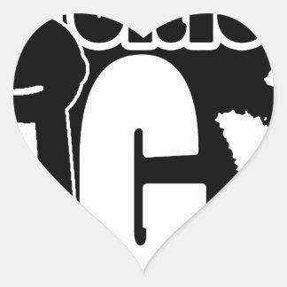 Notorious BIG Tshirt Heart Sticker