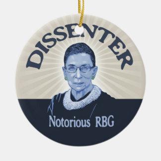 Notorious Dissenter Ceramic Ornament
