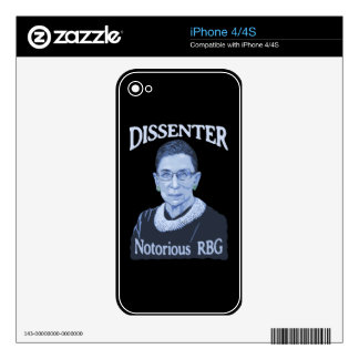 Notorious Dissenter Decals For iPhone 4S