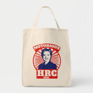 Notorious HRC hillary Clinton 2016 Grocery Tote Bag