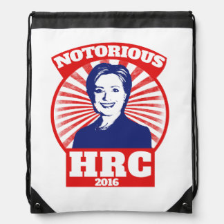 Notorious HRC hillary Clinton 2016 Drawstring Backpack