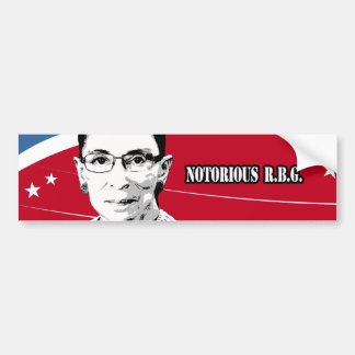 Notorious R.B.G. - Ruth Bader Ginsburg Car Bumper Sticker