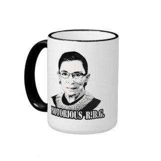 Notorious R.B.G. - Ruth Bader Ginsburg Ringer Coffee Mug