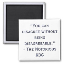 Notorious RBG Disagree Quote Magnet