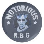 Notorious RBG III Dinner Plate