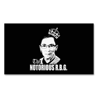 Notorious RBG Magnetic Business Cards (Pack Of 25)