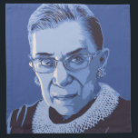 "Notorious RBG Napkin<br><div class=""desc"">Ruth Bader Ginsburg in blue,  with,  &quot;I dissent&quot; at the top and,  &quot;Notorious RBG&quot; caption. T-shirts,  sweats,  buttons,  posters,  novelty gift items.</div>"