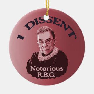 Notorious RBG -p Ceramic Ornament