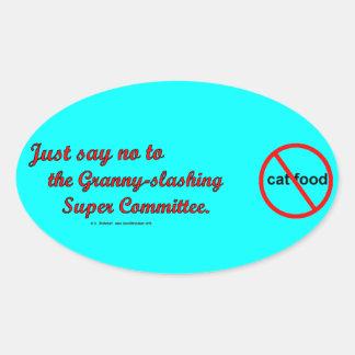 NoToSuperCommittee Oval Stickers