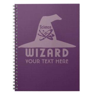 Notrbook del personalizado del mago de la ciencia libreta espiral