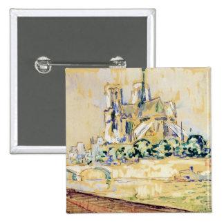 Notre Dame, 1885 Pin Cuadrada 5 Cm