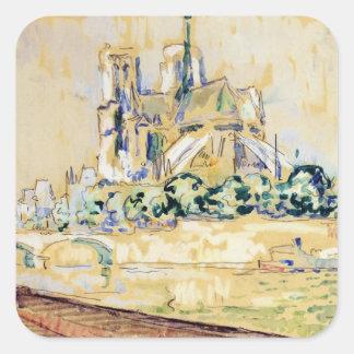 Notre Dame, 1885 Square Sticker