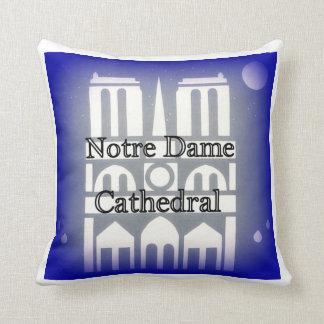 Notre Dame almohadas de tiro