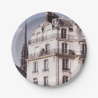 Notre Dame and Parisian Architecture Paper Plate