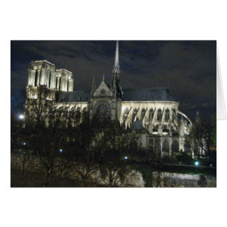 Notre Dame at Night Card