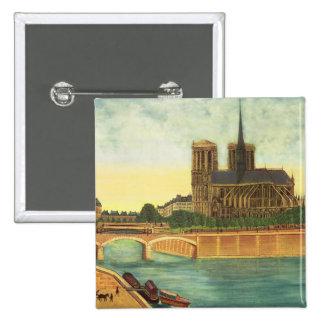 Notre-Dame c 1933 Pinback Button
