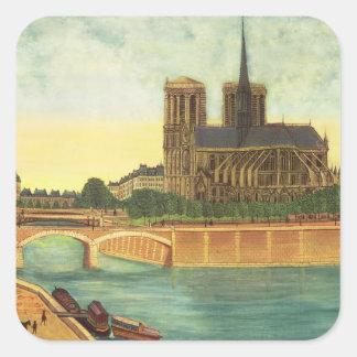 Notre-Dame  c.1933 Square Sticker