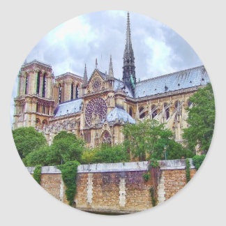 Notre-Dame Cathedral 2 Classic Round Sticker