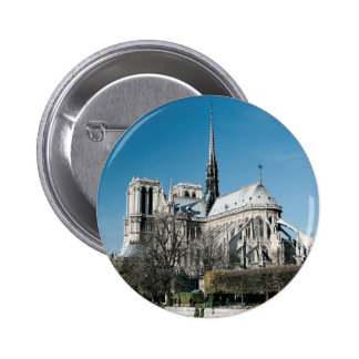 Notre Dame Cathedral Pinback Buttons