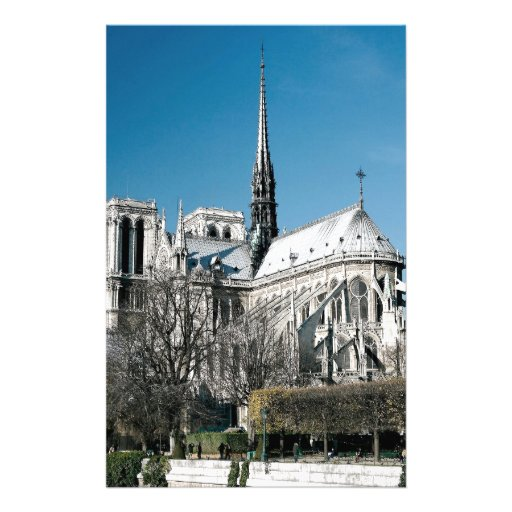 Notre Dame Cathedral Custom Stationery