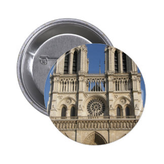 Notre Dame Cathedral in Paris Buttons