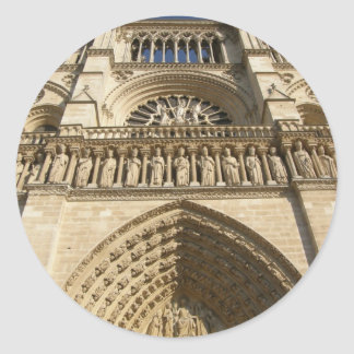 Notre Dame Cathedral in Paris Classic Round Sticker