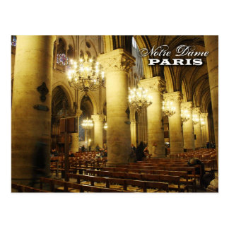 Notre Dame Cathedral (interior), Paris, France Postcard