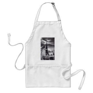 Notre Dame Cathedral Paris France 1910 Vintage Adult Apron