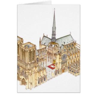 Notre-Dame Cathedral. Paris France Card