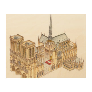 Notre-Dame Cathedral. Paris France Wood Print