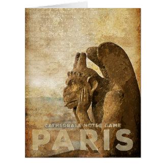 Notre Dame Cathedral Paris, le Stryga Chimera Card