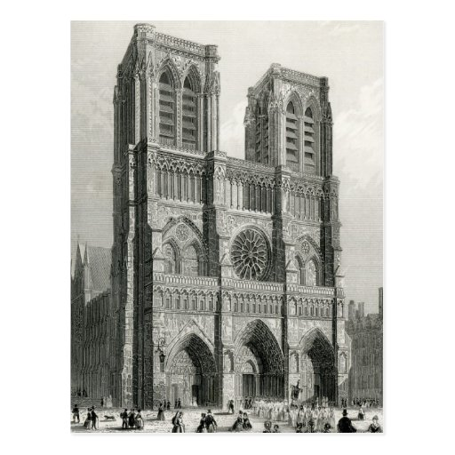 Notre Dame Cathedral, Paris Post Card