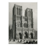 Notre Dame Cathedral, Paris Posters