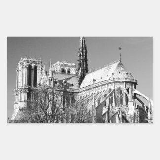 Notre Dame Cathedral Rectangular Sticker