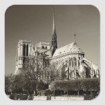 Notre Dame Cathedral Square Sticker