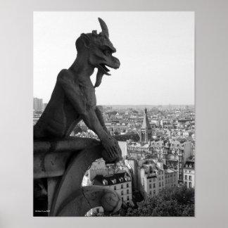 Notre Dame Chimera 2 Print