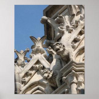 Notre Dame Chimera Watchful Eyes Print