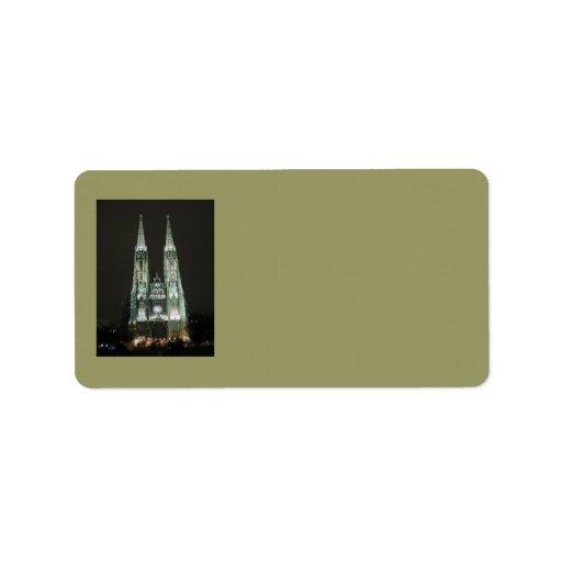 Notre Dame Church Address Label