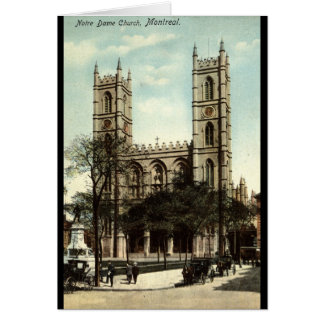Notre Dame Church Montreal Vintage 1914 Card