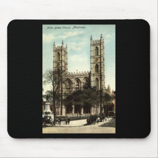 Notre Dame Church Montreal Vintage 1914 Mouse Pad