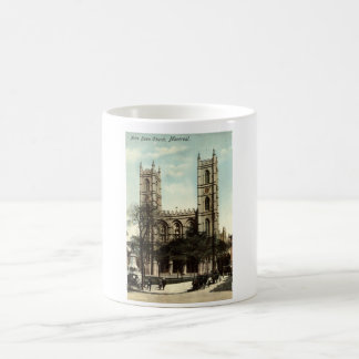 Notre Dame Church Montreal Vintage 1914 Mugs